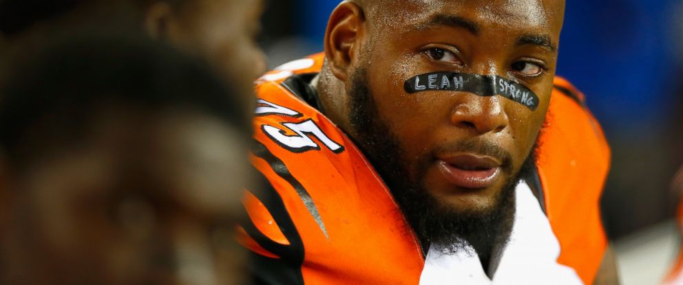PHOTO: Devon Still of the Cincinnati Bengals looks on during the fourth quarter against the New England Patriots at Gillette Stadium, Oct. 5, 2014, in Foxboro, Mass.