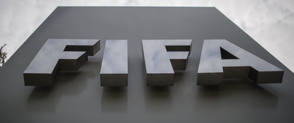 PHOTO: A FIFA logo is seen in front of the organizations head office in Zurich on September 26, 2014.