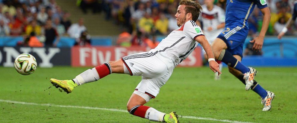 PHOTO: Mario Goetze of Germany during the 2014 FIFA World Cup Brazil Final match between Germany and Argentina at Maracana on July 13, 2014 in Rio de Janeiro, Brazil.