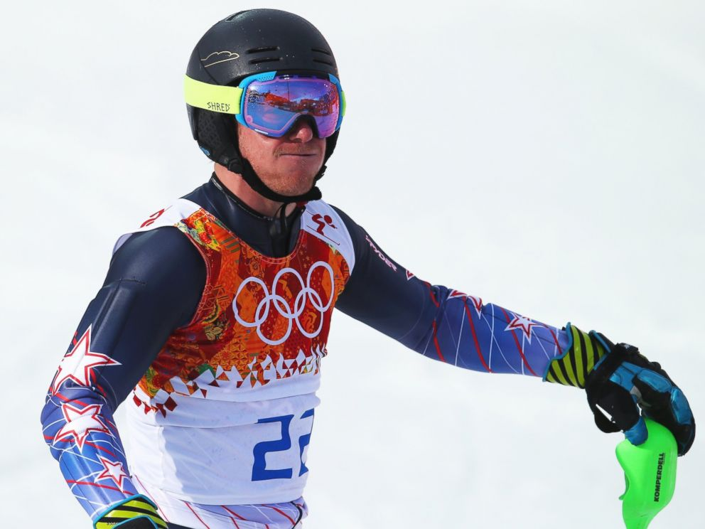 PHOTO: Ted Ligety of the United States competes during the Alpine Skiing Mens Super Combined Downhill at Rosa Khutor Alpine Center on Feb. 14, 2014.