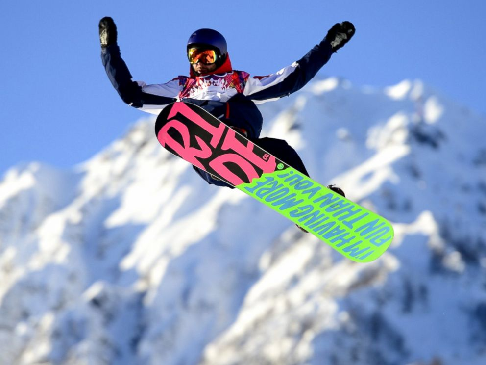 PHOTO: Great Britains Billy Morgan competes in the mens snowboard slopestyle qualification at the Rosa Khutor Extreme Park during the 2014 Sochi Winter Olympics, Feb. 6, 2014.