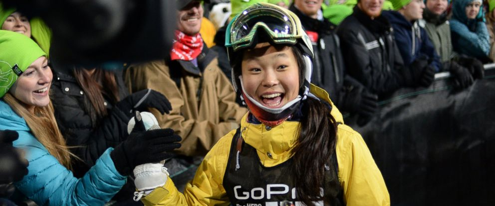 PHOTO: Chloe Kim at the young age of 13 wins silver during the Womens Snowboard SuperPipe Finals at the Winter X Games in Aspen, Colo., Jan. 25 2014.