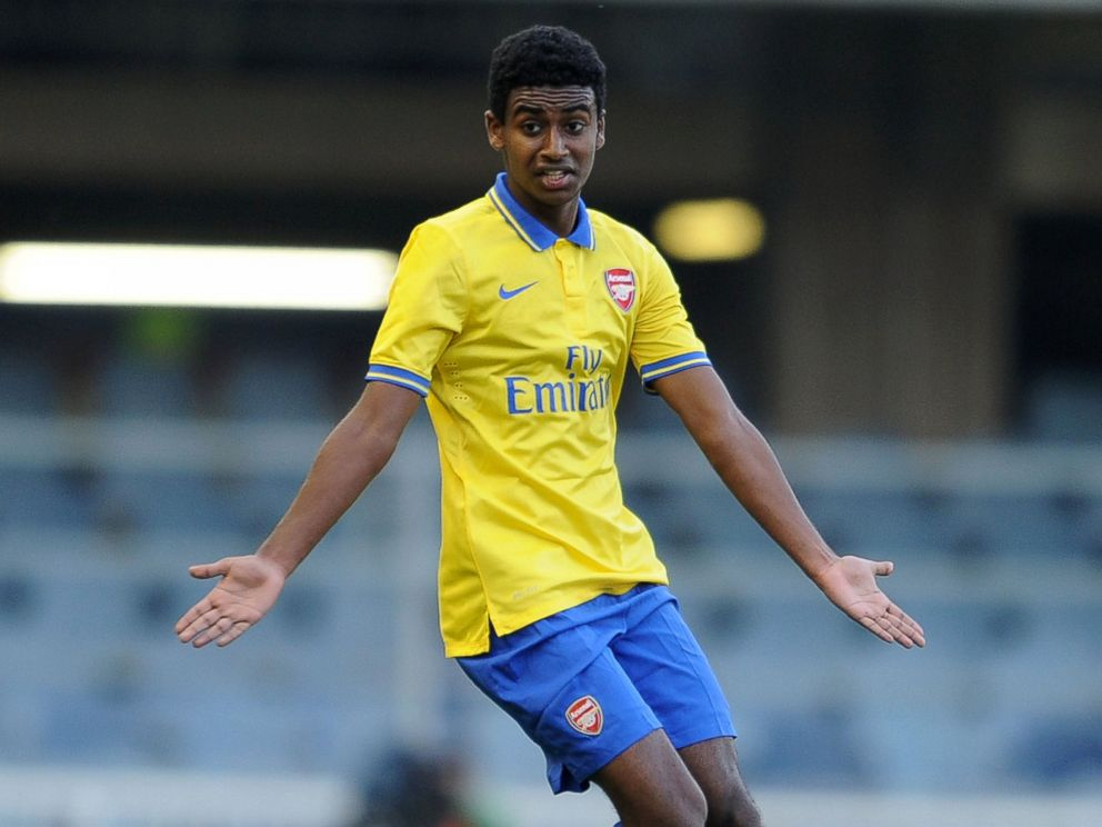 PHOTO: Gedion Zelalem of Arsenal during the match between Barcelona U19 and Arsenal U19 in the UEFA Youth League Quarter Final at Mini Estadi on March 18, 2014 in Barcelona, Spain.