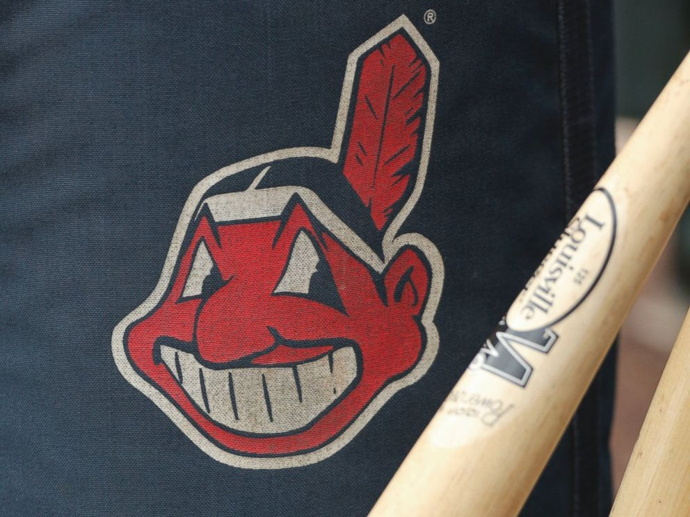 PHOTO: A Cleveland indians logo on a practice bag sits next to players bats before a game between the Cleveland Indians and Kansas City Royals, April 14, 2012 at Kauffman Stadium in Kansas City, Mo.