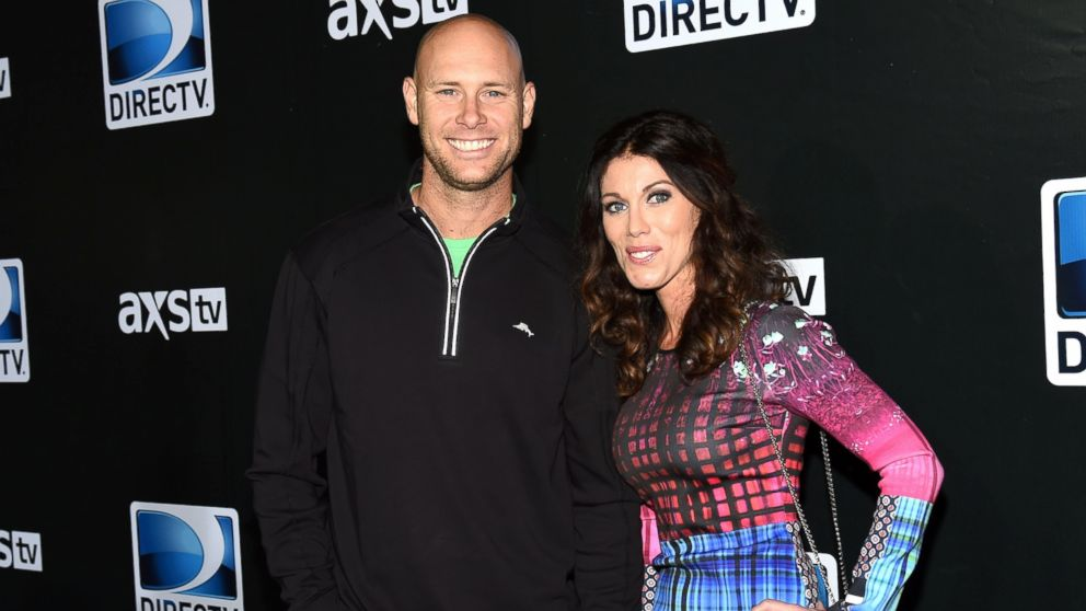 New York Giants kicker Josh Brown and Molly Brown attend DirecTV Super Saturday Night at Pendergast Family Farm, Jan. 31, 2015, in Glendale, Arizona.