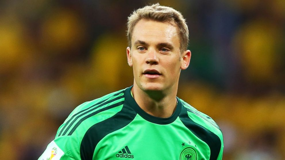 Manuel Neuer of Germany during the 2014 FIFA World Cup Brazil Semi Final match between Brazil and Germany at Estadio Mineirao on July 8, 2014 in Belo Horizonte, Brazil.