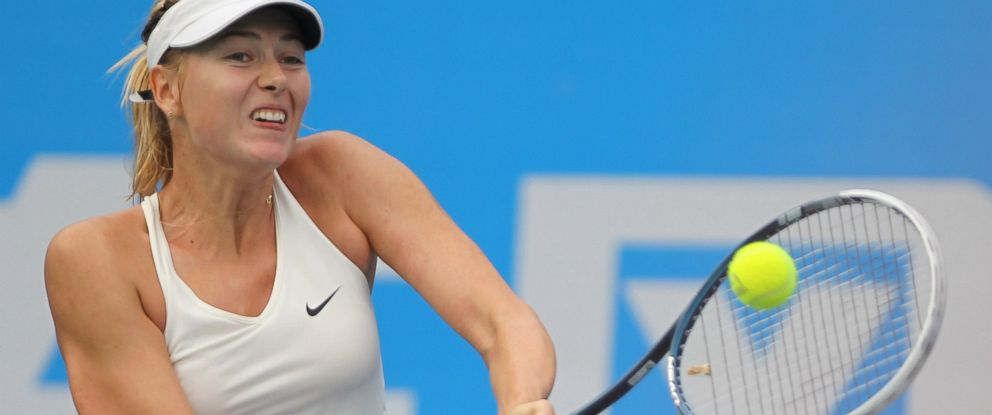 PHOTO: Maria Sharapova of Russia returns a shot during her match against Timea Bacsinszky of Switzerland on day four of 2014 Dongfeng Motor Wuhan Open at Optics Valley International Tennis Center on Sept. 24, 2014 in Wuhan, China.