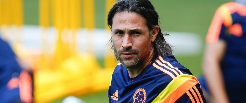 PHOTO: Mario Yepes of Colombia stretches during the Colombia training session before the 2014 FIFA World Cup Group C match between Greece and Colombia at Mineirao Stadium on June 13, 2014 in Belo Horizonte, Brazil.