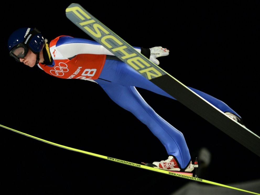 PHOTO: Austrias Daniela Iraschko-Stolz soars through the air