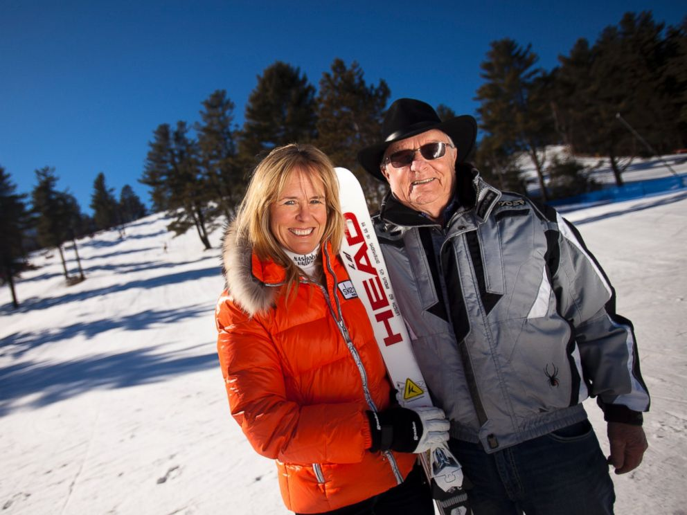 PHOTO: Former Olympic downhiller Pam Fletcher, left, is pictured with her father Al Fletcher, right, who work together at the Nashoba Valley Ski Area in Littleton, Mass. on Feb. 6, 2012.