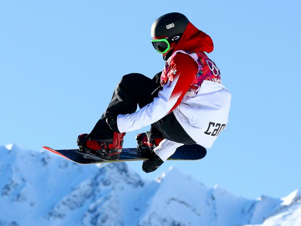 PHOTO: Sebastien Toutant of Canada competes in the mens slopestyle qualification during the 2014 Sochi Winter Olympics at Rosa Khutor Extreme Park, Feb. 6, 2014, in Sochi, Russia.