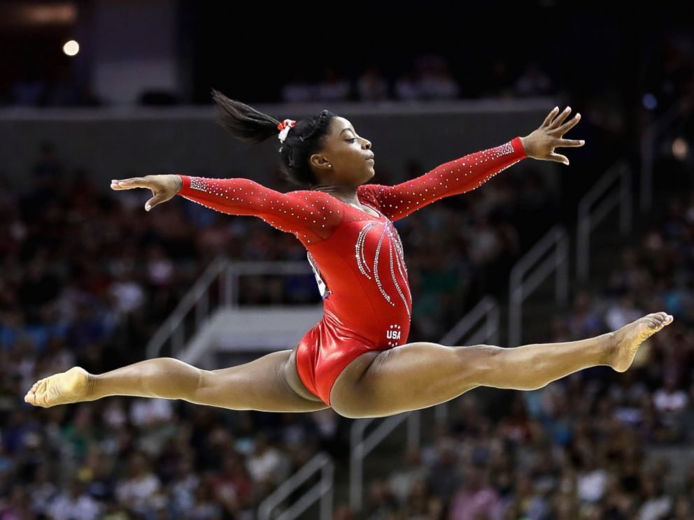 PHOTO: Simone Biles competes in the floor exercise during Day two of the 2016 U.S. Womens Gymnastics Olympic Trials at SAP Center, July 10, 2016, in San Jose, California.