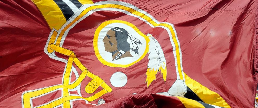 PHOTO: A Washington Redskins flag on the field before the game against the Detroit Lions at FedExField in this Sept. 22, 2013, file photo in Landover, Maryland.