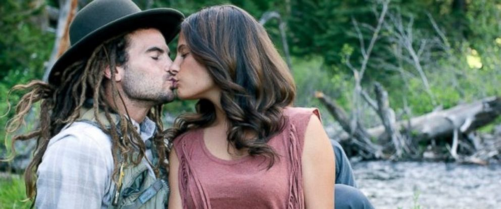 PHOTO: Kate Pappas and Kyle Beckerman share a kiss.
