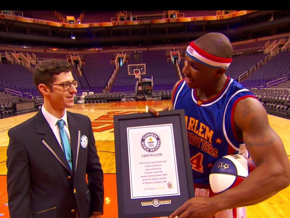 Corey Thunder Law is honored for his Guinness world record at US Airways Center in Phoenix, Nov. 12, 2014.