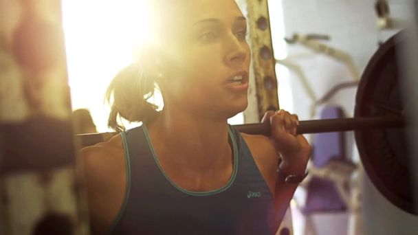 PHOTO: Lolo Jones in an Asics commercial.