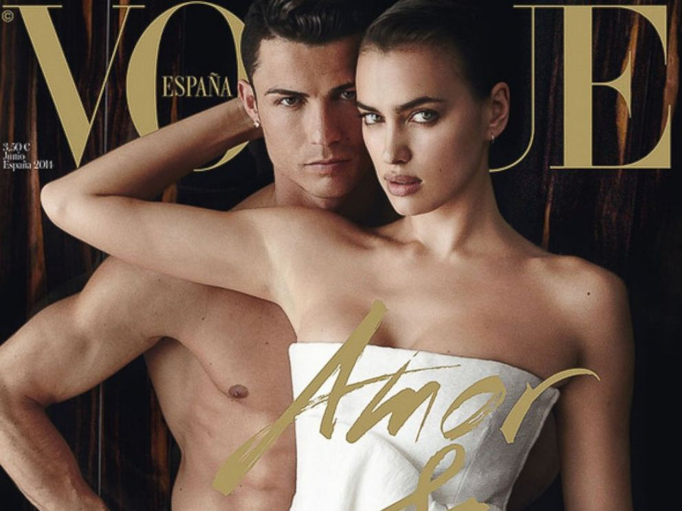 PHOTO: Cristiano Ronaldo and Irina Shayk on the June 2014 cover of Vogue Spain.