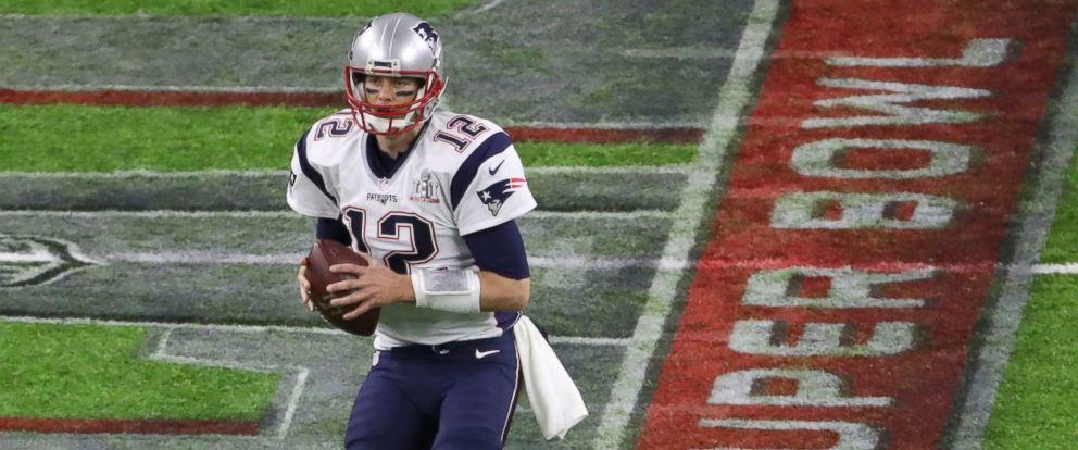 PHOTO: New England Patriots quarterback Tom Brady looks to pass during the third quarter against the Atlanta Falcons at Super Bowl LI in Houston, Texas, on Feb. 5, 2017.