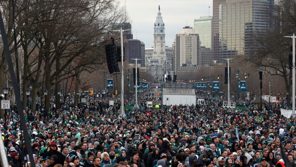 Super Bowl Victory Parade Underway In Philadelphia