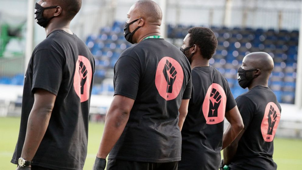 Black Players For Change Lead Protest At Mls Is Back Tourney Abc News
