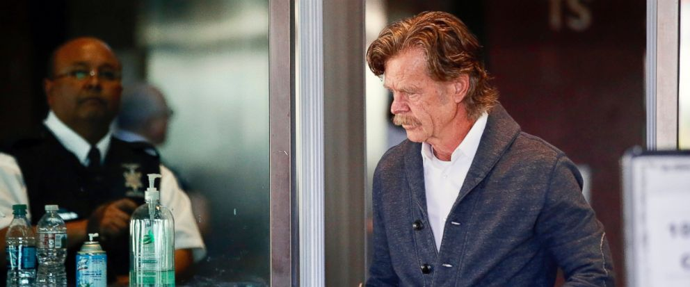 Actor William H. Macy arrives at the federal courthouse in Los Angeles, on Tuesday, March 12, 2019. Fifty people, including Macys wife, actress Felicity Huffman and actress Lori Loughlin, were charged Tuesday in a scheme in which wealthy parents all