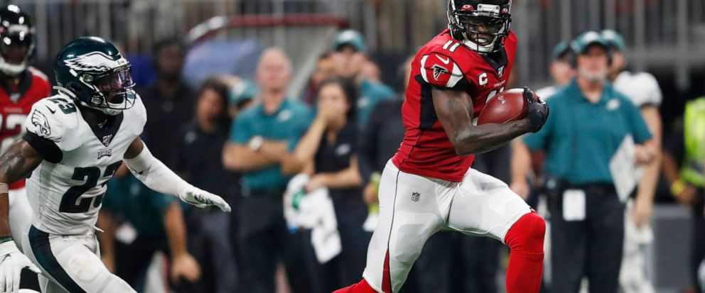 size 40 24f29 dc4e5 Jones scores late TD, leads Falcons past Eagles 24-20 - ABC News