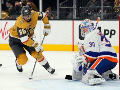 Sorokin, Islanders beat Vegas 2-0 for 2nd straight shutout