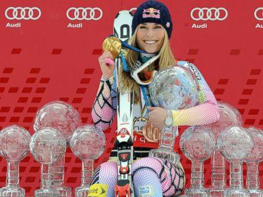 The Latest: Vonn completes last run of career