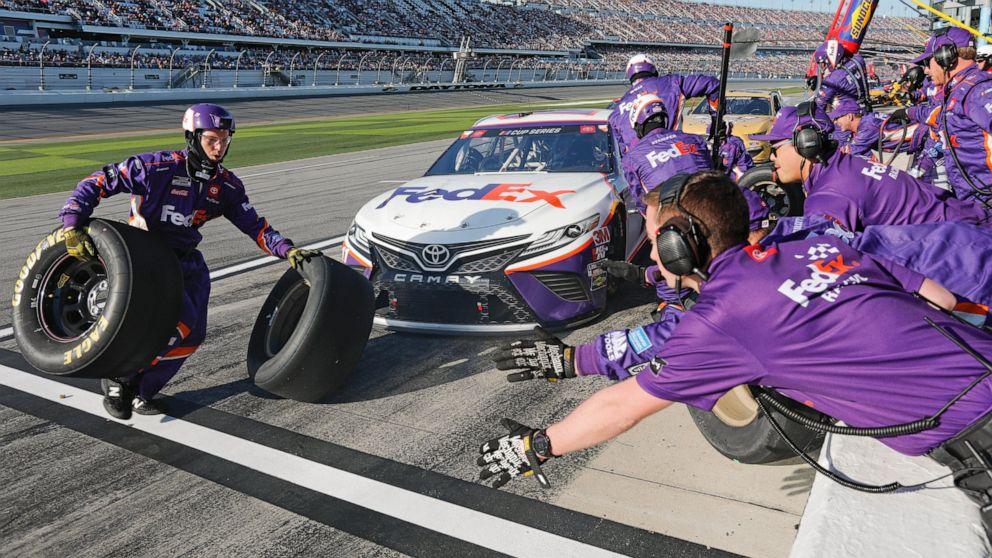 Denny Hamlin Wins 3rd Daytona 500 Ryan Newman Hospitalized Abc News