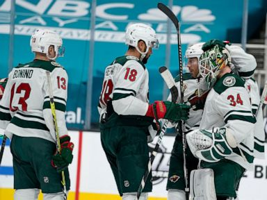 Wild beat Sharks 6-2 for third win in a row