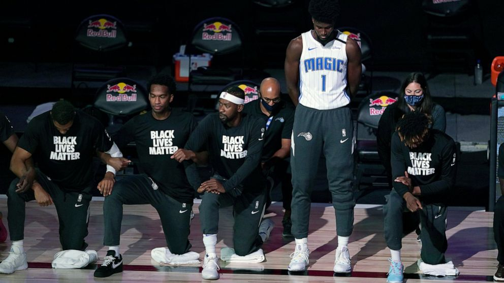 Magic S Jonathan Isaac Is Lone Player To Stand For Anthem Abc News
