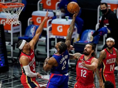 Leonard leads Clippers past short-handed Pelicans 111-106