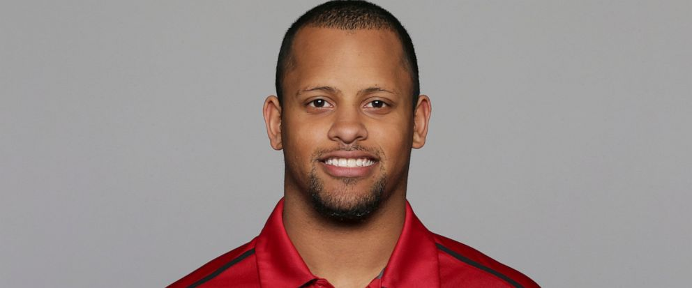 FILE - This 2016, file photo shows Keanon Lowe of the San Francisco 49ers NFL football team. Lowe, a former analyst for the 49ers and wide receiver at the University of Oregon, subdued a person with a gun who appeared on a Portland, Oregon high schoo