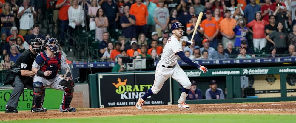 4d5b0233d93 Correa s RBI single in 9th gives Astros 4-3 win over Boston - ABC News