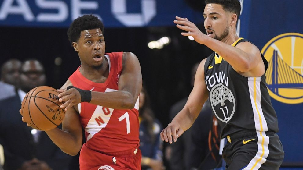 The Latest: Warriors' Thompson not returning for Game 6