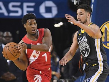 the best attitude de190 e32fa Toronto Raptors defeat Golden State Warriors in Game 6 - The Latest   Raptors hang on in final moments, win their first NBA championship