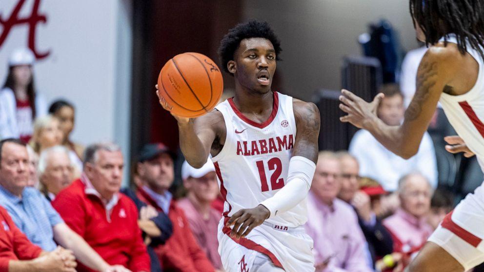 Lewis Alabama Hand No 4 Auburn Its First Loss 83 64 Abc