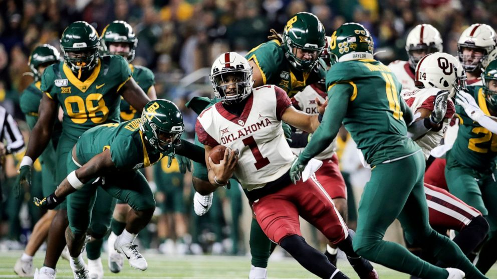 No 6 Oklahoma No 8 Baylor On Playoff Edge In Big 12 Game