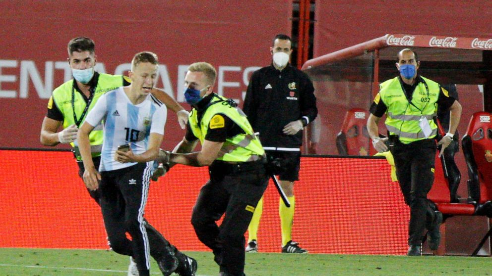 Spanish League To File Charges Against Fan Who Invaded Field Abc News
