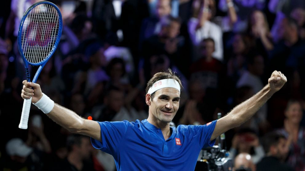 Federer Wins With A Little Help From Friends Nadal And Borg Abc News