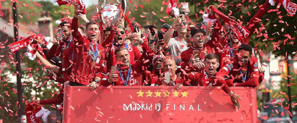 ผลการค้นหารูปภาพสำหรับ liverpool champions league 2019 parade