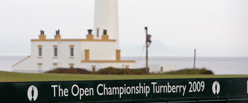 FILE - This July 2, 2009, file photo, shows the Turnberry Lighthouse on the Ailsa Course at the Turnberry golf course in Scotland. President Donald Trumps two golf resorts in Scotland posted losses for the fifth year in a row as the properties conte