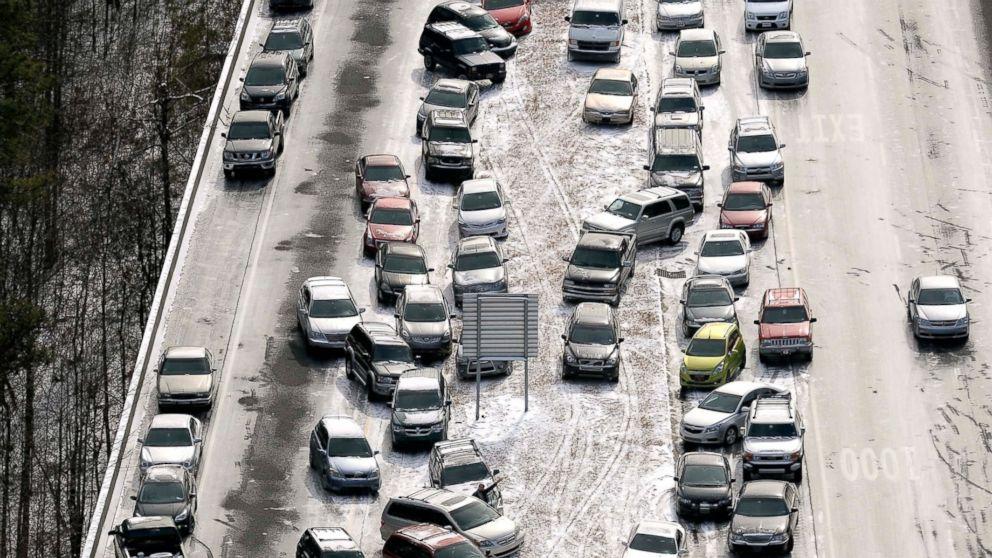 Atlanta Braced For Wintry Weather Gets Spritzed By Rain Abc News