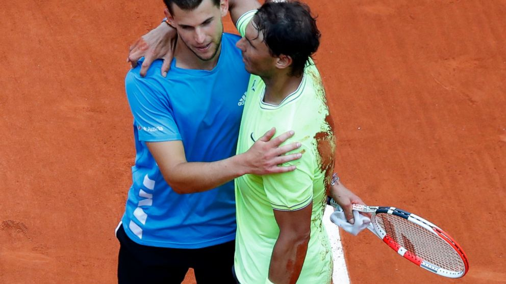 Stepped On Me Thiem Loses French Open Final To Nadal Abc News