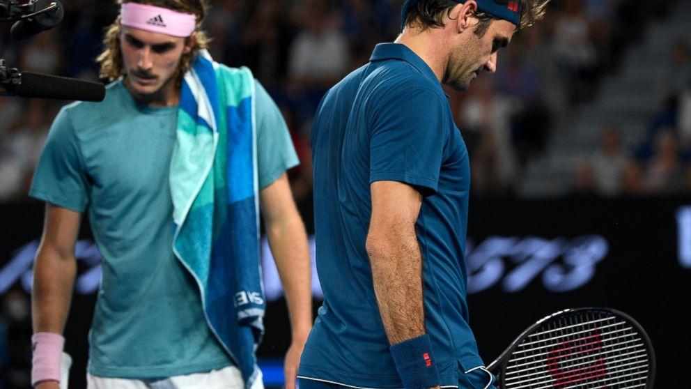 Federer 37 Shocked By Tsitsipas 20 At Australian Open Abc News
