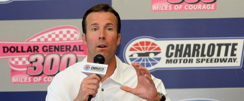 FILE - In this Oct. 14, 2011 file photo, J.D. Gibbs, president of Joe Gibbs Racing, speaks during a news conference before the NASCAR Nationwide auto race at Charlotte Motor Speedway in Concord, N.C. Joe Gibbs Racing says co-founder J.D. Gibbs, the e