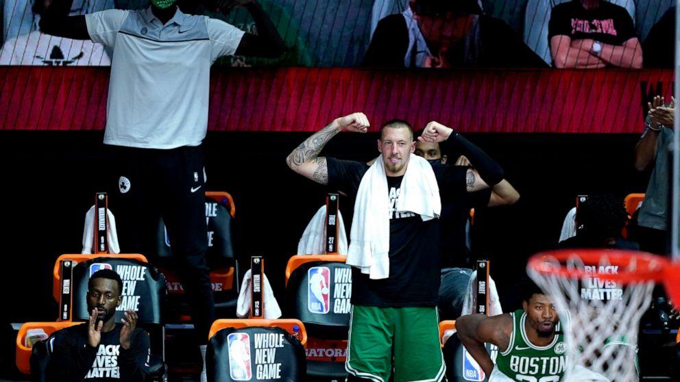 Celtics Build 40 Point Lead Roll Past Raptors 122 100 Abc News