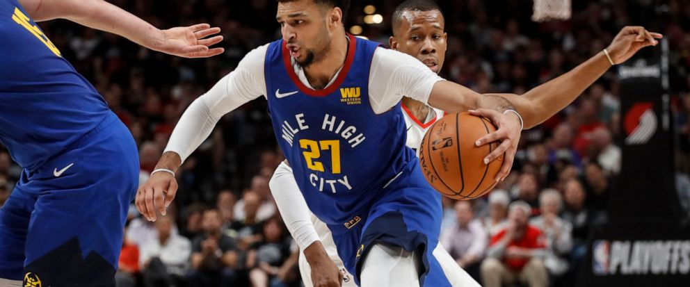 50718654da3 Denver Nuggets guard Jamal Murray drives to the basket during the first  half of Game 6