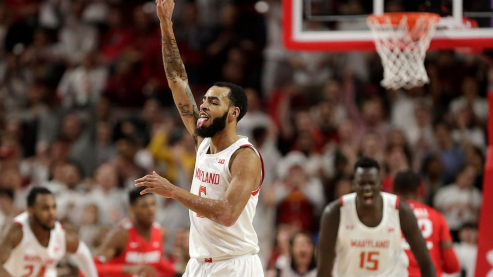 No 12 Maryland Grinds Past No 11 Ohio State 67 55 Abc News