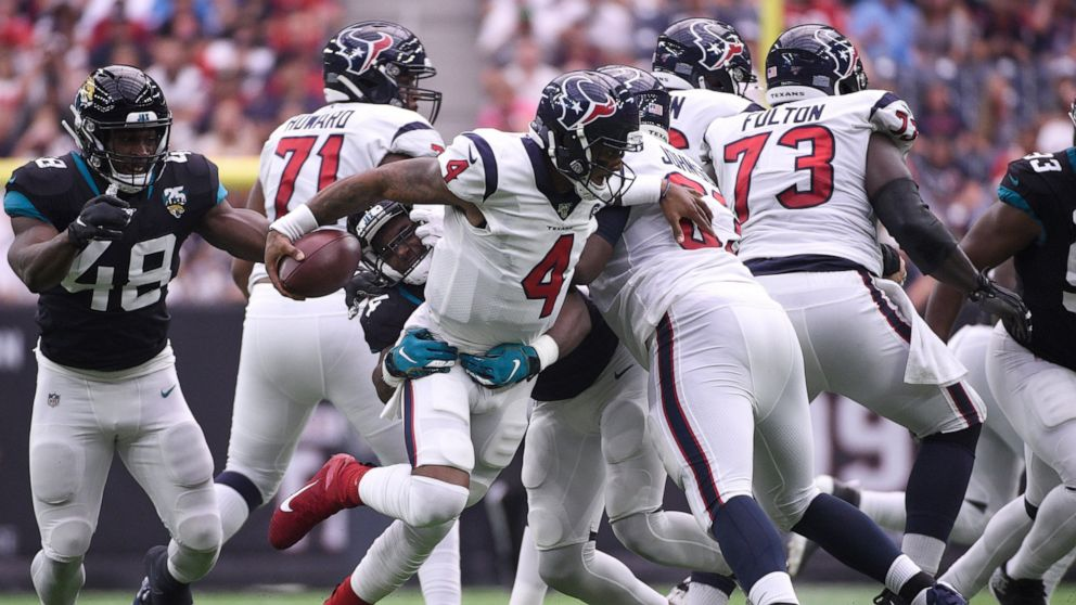 Texans Stop Jags 2 Point Conversion To Get 13 12 Win Abc News